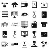 Cash expenditures icons set, simple style Royalty Free Stock Photography