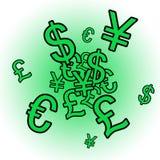 Cash Explosion. Exploding Cash stock illustration