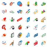 Cash fee icons set, isometric style. Cash fee icons set. Isometric set of 36 cash fee vector icons for web isolated on white background Stock Image