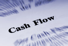 Cash flow. Concept shoot of a economic definition Royalty Free Stock Photo