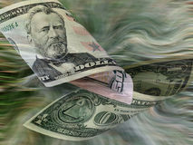 Cash Flow. Money floating Stock Photography