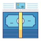 Cash flow stock illustratie