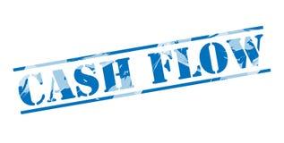 Cash flow blauwe zegel stock illustratie