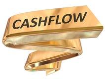 Cash flow d'or de bannière Images stock