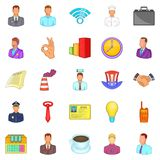 Cash flow icons set, cartoon style Royalty Free Stock Photo