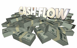 Cash Flow Money Piles Stacks Income Earnings Finances Royalty Free Stock Photos
