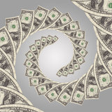 Cash flow money spiral Royalty Free Stock Photography