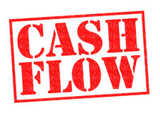 CASH FLOW. Red Rubber Stamp over a white background Stock Images