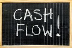 Cash Flow Reminder Message Stock Image