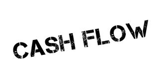 Cash Flow rubber stamp. Grunge design with dust scratches. Effects can be easily removed for a clean, crisp look. Color is easily changed Stock Images