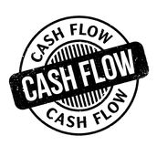 Cash Flow rubber stamp. Grunge design with dust scratches. Effects can be easily removed for a clean, crisp look. Color is easily changed Royalty Free Stock Photography