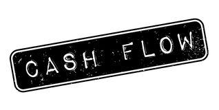 Cash Flow rubber stamp. Grunge design with dust scratches. Effects can be easily removed for a clean, crisp look. Color is easily changed Royalty Free Stock Images