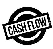 Cash Flow rubber stamp. Grunge design with dust scratches. Effects can be easily removed for a clean, crisp look. Color is easily changed Stock Photo