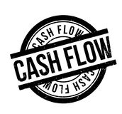 Cash Flow rubber stamp. Grunge design with dust scratches. Effects can be easily removed for a clean, crisp look. Color is easily changed Stock Photography