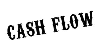 Cash Flow rubber stamp. Grunge design with dust scratches. Effects can be easily removed for a clean, crisp look. Color is easily changed Stock Image