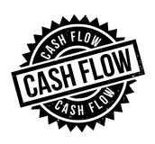 Cash Flow rubber stamp. Grunge design with dust scratches. Effects can be easily removed for a clean, crisp look. Color is easily changed Stock Photos