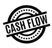Cash Flow rubber stamp. Grunge design with dust scratches. Effects can be easily removed for a clean, crisp look. Color is easily changed Royalty Free Stock Image