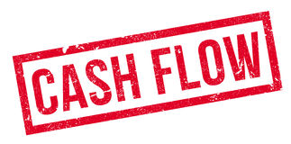 Cash Flow rubber stamp. Grunge design with dust scratches. Effects can be easily removed for a clean, crisp look. Color is easily changed Royalty Free Stock Photos