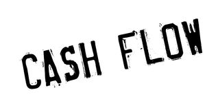 Cash flow rubberzegel stock illustratie