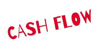 Cash flow rubberzegel royalty-vrije illustratie