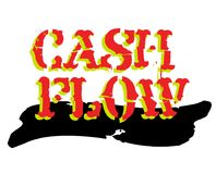 Cash flow sticker. Authentic design graphic stamp. Original series Stock Photo