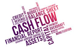 CASH FLOW word cloud collage, business concept background stock illustration