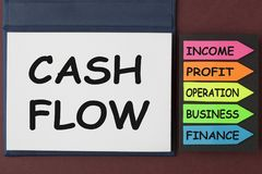 Cash Flow Concept. CASH FLOW written on notebook and arrows. Business concept royalty free stock photos