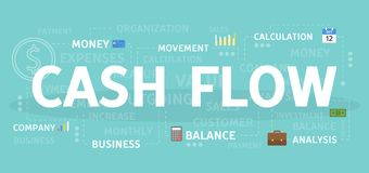Cash flowconcept vector illustratie