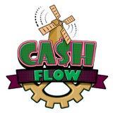 Cash flowembleem stock illustratie
