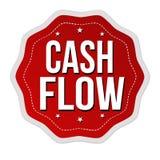 Cash flowetiket of sticker vector illustratie