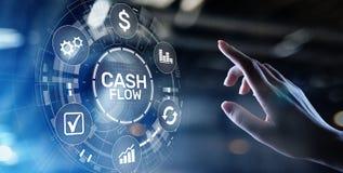 Cash flowknoop op het virtuele scherm Concept het bedrijfs van Tehcnology stock illustratie