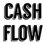 CASH FLOWzegel op wit stock illustratie