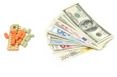 Cash For Necessary Medicine Royalty Free Stock Photography