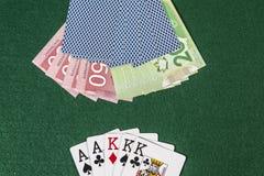 Cash on Gambling Royalty Free Stock Photos