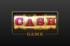 Cash Game banner. Cash Game, slot machine games banner, gambling casino games Stock Photo