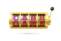 Cash Game slot machine. Slot machine with Cash Game text Stock Images