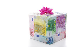 Cash gift box Stock Photos