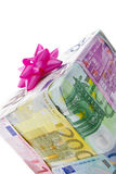 Cash gift box Stock Photography