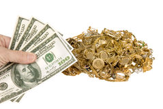 Money and jewellery royalty free stock image