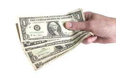 Cash in hand Stock Photos