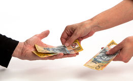 Cash in Hand Stock Photo