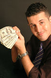 Cash in hand 2455. Cash in hand model released close up 2455 Royalty Free Stock Photography