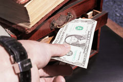 Cash in hand Royalty Free Stock Photo
