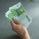 Cash in hand Royalty Free Stock Images