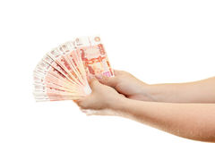 Cash in the hands Royalty Free Stock Images