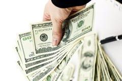 Cash In Hands Stock Photo