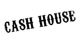 Cash House rubber stamp Stock Photo
