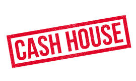 Cash House rubber stamp Royalty Free Stock Photos