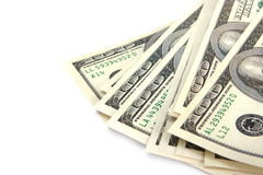 Cash - hundred dollar bills Stock Photos