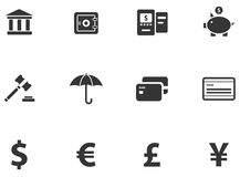 12 Cash Icons Stock Image